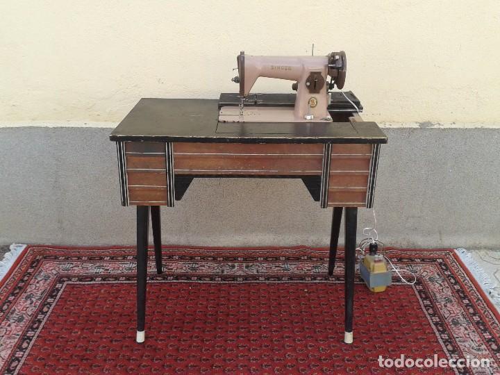 Raro mueble maquina de coser sigma antigua esti comprar for Muebles estilo vintage online