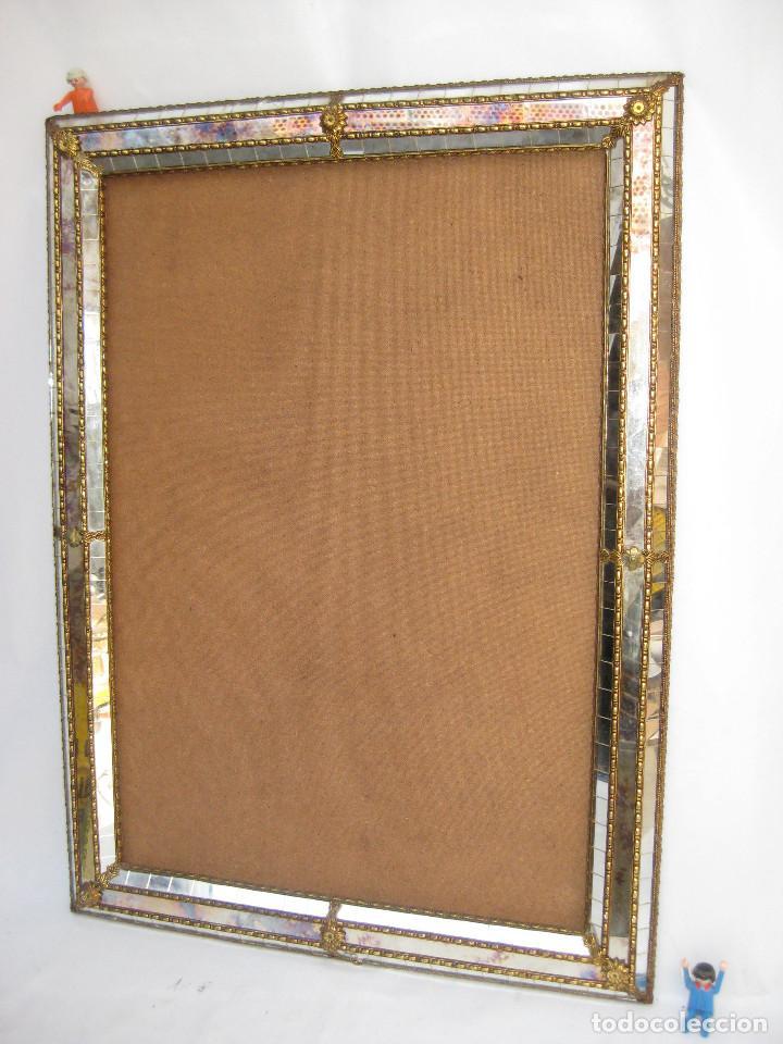 Marco espejo vintage cristal y laton estilo ven comprar for Espejo marco cristal