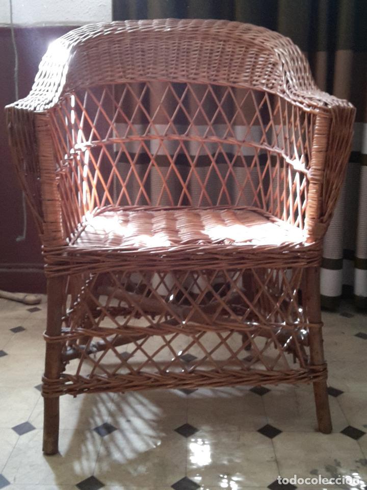 Recogida Muebles Reto : Silla sillón antiguo vintage mimbre ratán tipo comprar
