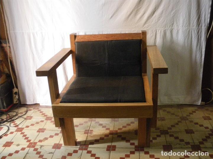 butaca madera maciza pieza unica diseo estilo bauhaus vintage muebles