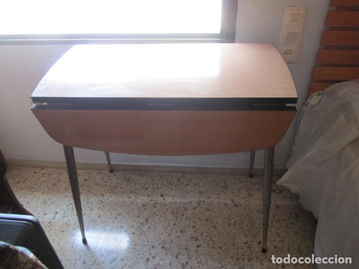 Mesa de cocina de formica railite dos alas dos comprar muebles vintage en todocoleccion 83768336 - Mesa cocina vintage ...