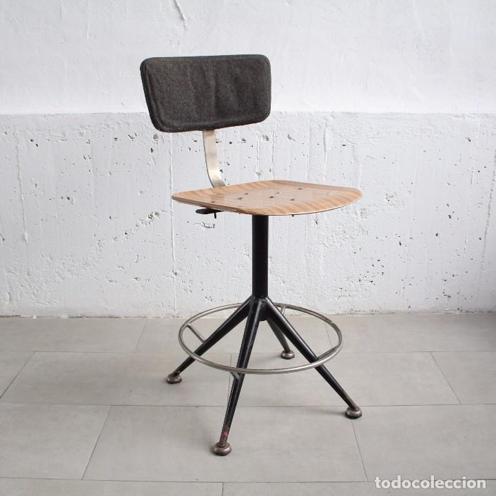 silla giratoria de taller. industrial. años 60. - Comprar Muebles ...