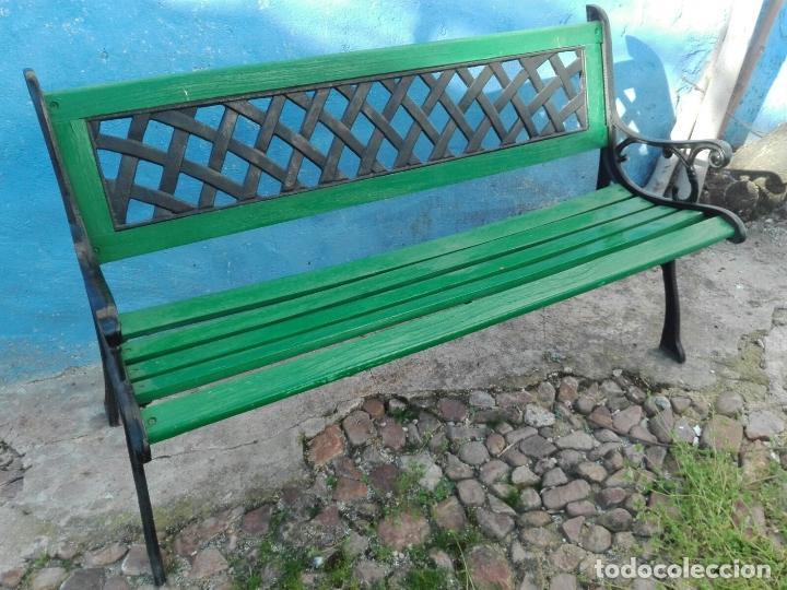 banco de jardin antiguo de hierro fundido y mad - Comprar Muebles ...