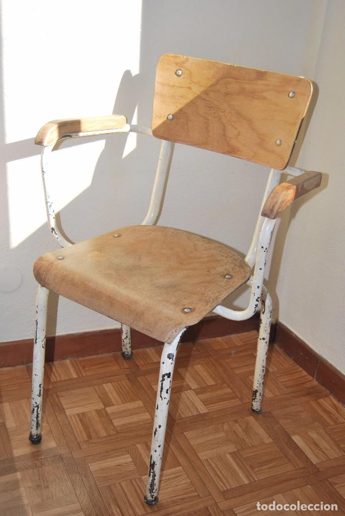 Silla de hierro y madera a os 50 60 comprar muebles - Muebles anos 50 ...