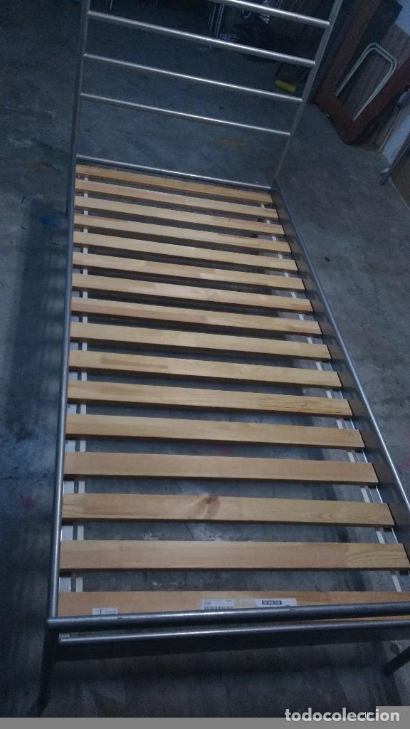 cama ikea metal y somier madera enrollable   Comprar Muebles