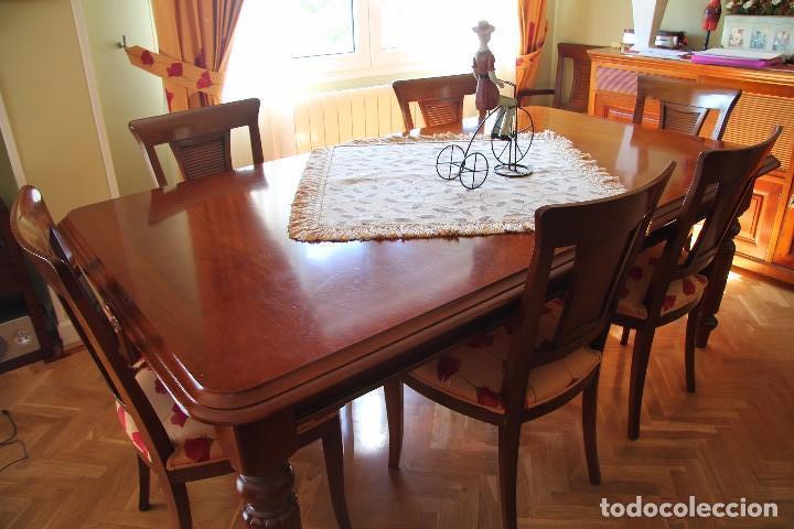 Mesa de comedor extensible con manivela con comprar for Sillas comedor color roble