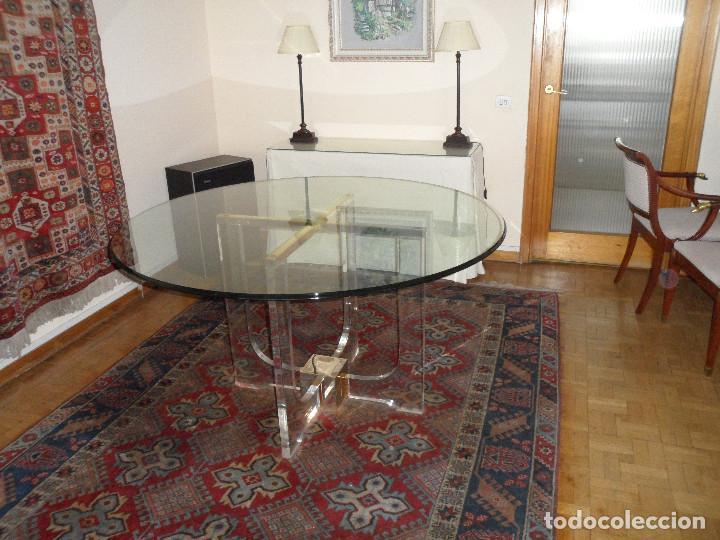 mesas de metacrilato preciosa mesa de comedor de cristal metacrilat comprar muebles vintage en todocoleccion