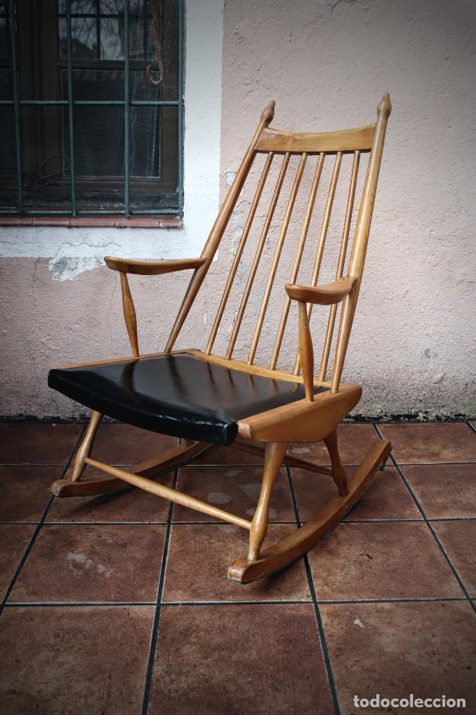 Silla mecedora dise o nordico escandinava tran comprar muebles vintage en todocoleccion - Mecedora diseno ...