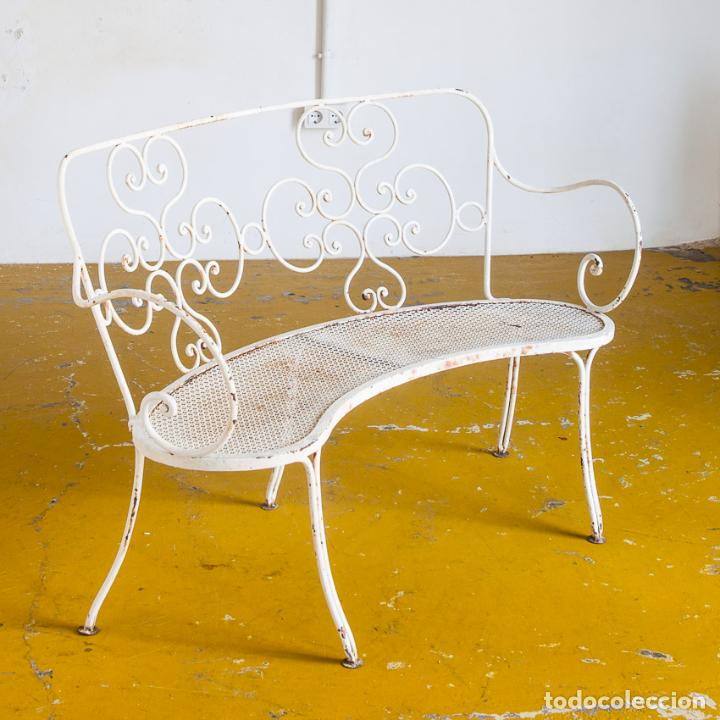 banco de jardín. hierro pintado. francia, años - Comprar Muebles ...