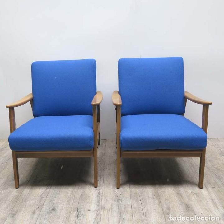 Pareja de sillas con brazos sillones butacas comprar for Sillones de estilo
