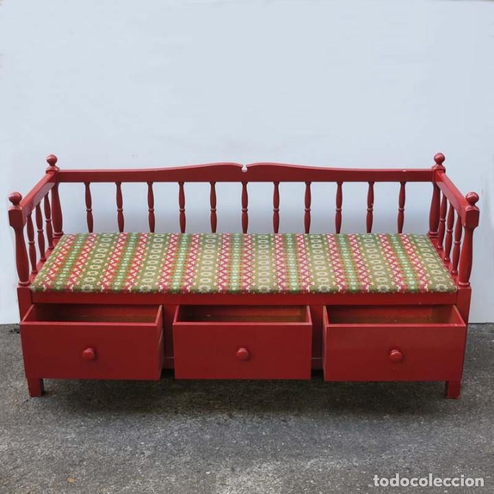 banco art nouveau con tres cajónes de madera. 1 - Comprar Muebles ...