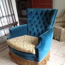 Vintage: ESPECTACULAR BUTACA ATERCIOPELADA, AÑOS 50. Lote 89315488