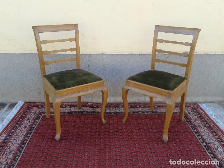 Dos sillas de oficina antiguas sillas antiguas comprar for Muebles estilo vintage online
