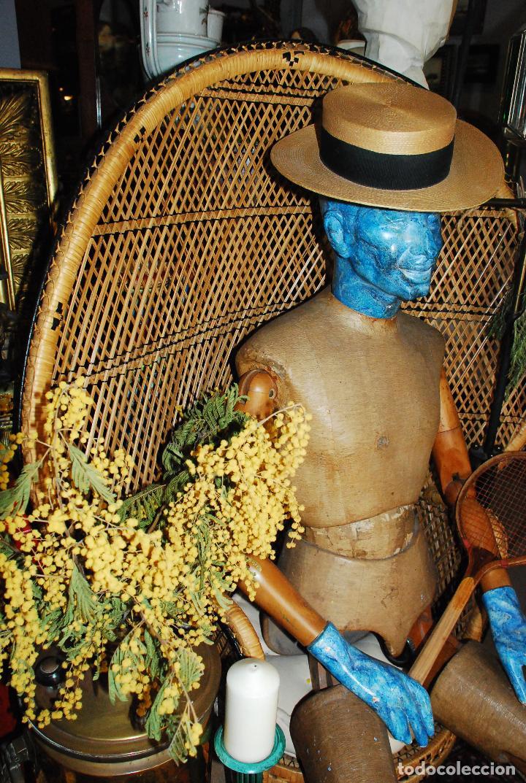 Vintage: ESPECTACULAR SILLA PEACOCK O ENMANUELLE DE MIMBRE - Foto 4 - 89855268