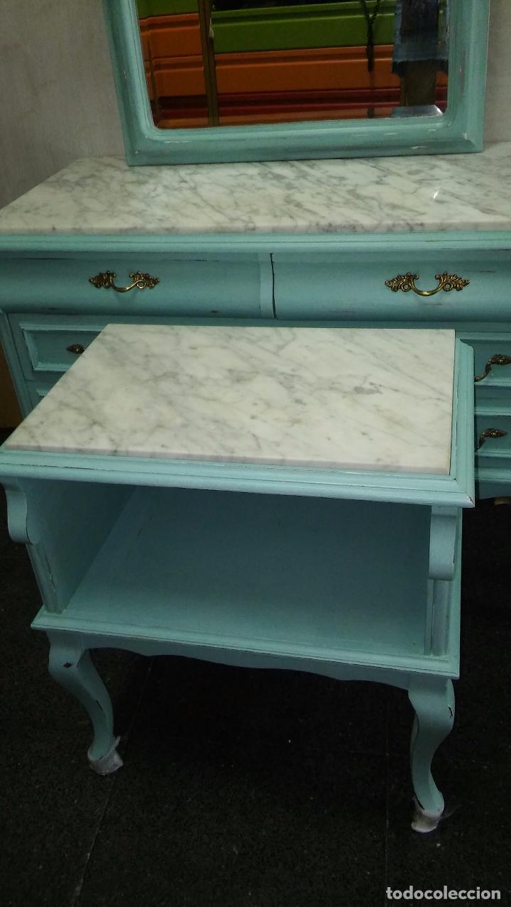 cómoda, mesita y espejo vintage - Comprar Muebles vintage en ...
