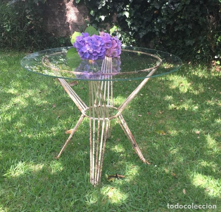 mesa de jardín en hierro y cristal - Comprar Muebles ... - photo#24