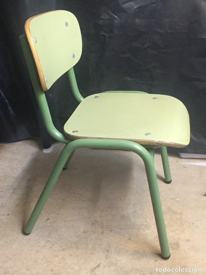 silla de guardería en metal y madera - Comprar Muebles vintage en ...