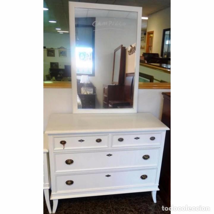 Comoda con espejo y 2 mesillas blanco comprar muebles - Comoda con espejo ...