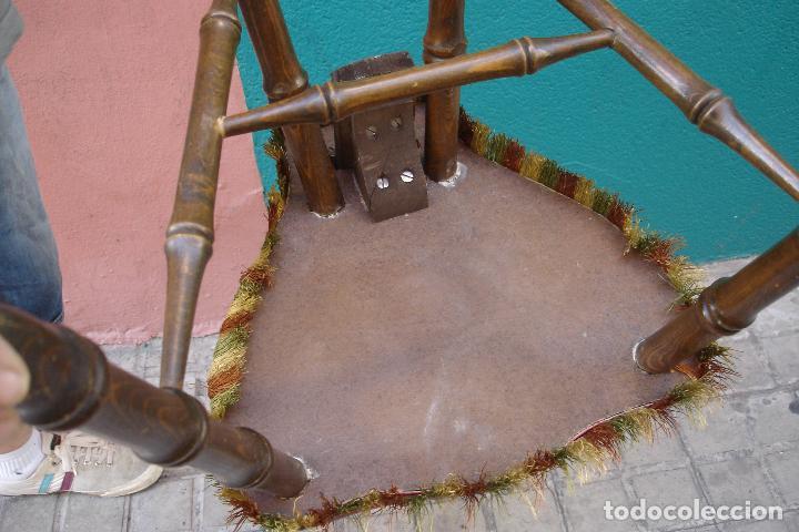 Vintage: -SILLAS DE MADERA ESTILO CASTELLANO - 2 UNIDADES - Foto 2 - 91760660