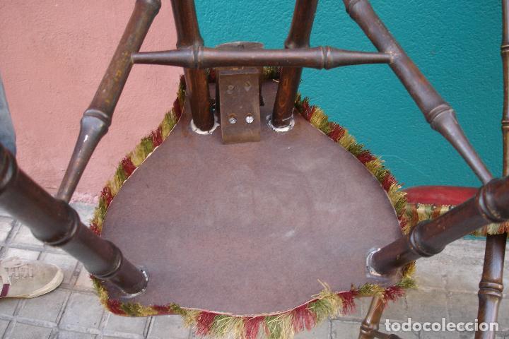 Vintage: -SILLAS DE MADERA ESTILO CASTELLANO - 2 UNIDADES - Foto 3 - 91760660