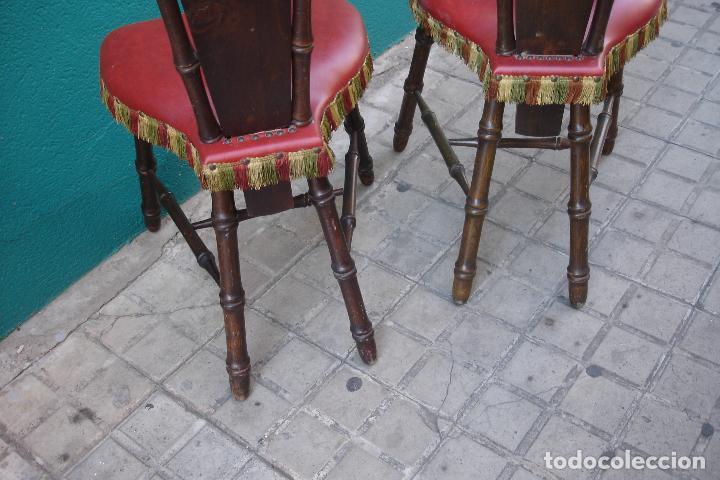 Vintage: -SILLAS DE MADERA ESTILO CASTELLANO - 2 UNIDADES - Foto 9 - 91760660
