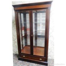 Vintage: VITRINA NOGAL MEDIDAS 112 X 40 X 186. Lote 91815945