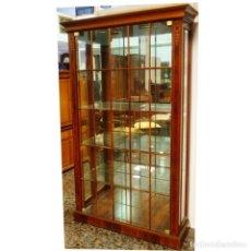 Vintage: VITRINA NOGAL CON CELOSIAS 112 X 39 X 190. Lote 91817885