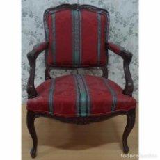 Vintage: BUTACA SILLON LUIS XV LISTAS. Lote 93145755