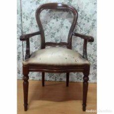 Vintage: BUTACA SILLON MODELO ISABELINO. Lote 93174100