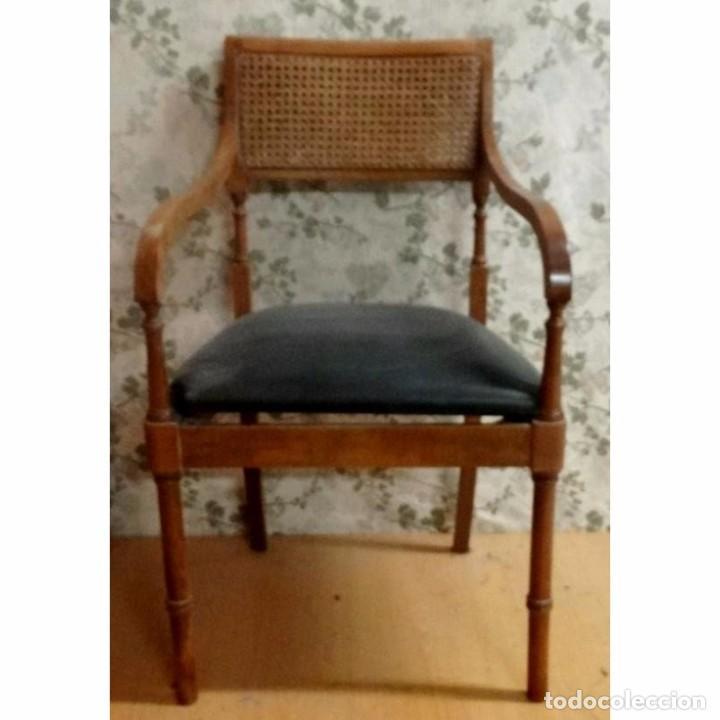 BUTACA SILLON SHERATON NOGAL (Vintage - Muebles)