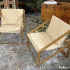 Vintage: PAREJA DE SILLONES PLEGABLES AÑOS 60-70 DISEÑO . Lote 93260670