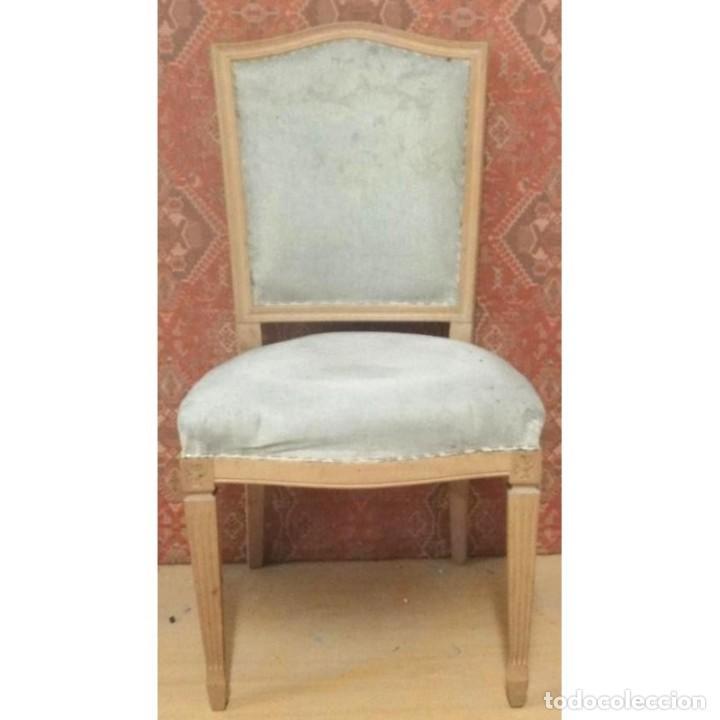 SILLA INGLESA DESPACHO TAPIZADO CRUDO (Vintage - Muebles)