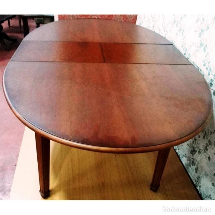 mesa comedor eliptica cerezo extensible 160 x 1 - Comprar Muebles ...