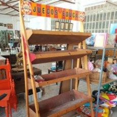 Vintage: GRAN ESTANTERÍA / EXPOSITOR DE JUEGOS EDUCA, EN MADERA, PROCEDENTE DE ANTIGUA JUGUETERIA.. Lote 93651295
