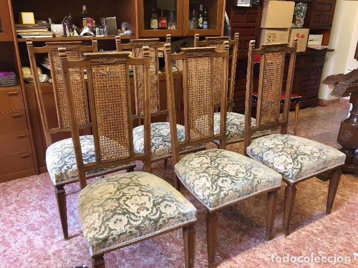 6 sillas comedor años 70-80, con rejilla y buen - Comprar Muebles ...