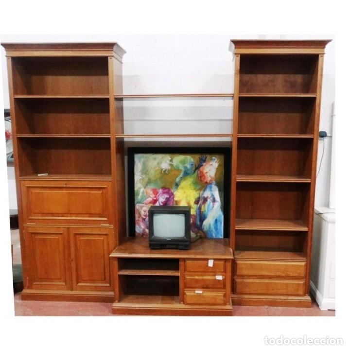 COMPOSICION LIBRERIA COLOR CEREZO 268 X 30 X 227 (Vintage - Muebles)