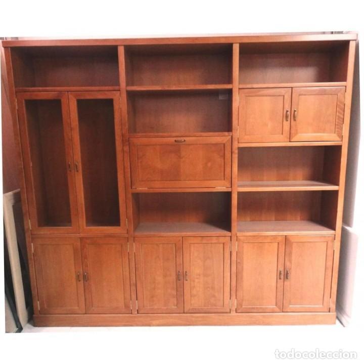 LIBRERIA MODERNA COLOR CEREZO 245 X 35 X 217 (Vintage - Muebles)