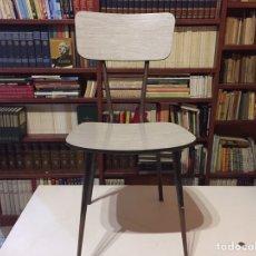 Vintage: SILLA FORMICA GRIS AÑOS 70 TÍPICA COCINAS. Lote 95280214