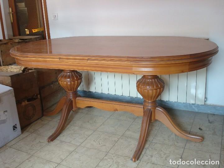 Mesa extensible de salón comedor + 6 sillas vintage (excelente estado)  Madera calidad 165 x 73 x 90