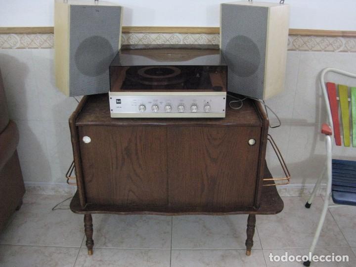 Vintage mueble auxiliar para discos y tocadisco comprar - Muebles auxiliares vintage ...
