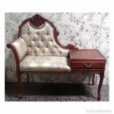 Vintage: BANQUETA TELEFONERA CON CAJON. Lote 96982315