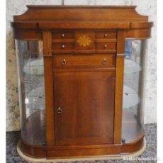 Vintage: TAQUILLON CON VITRINAS 118 X 36 X 120. Lote 96988191