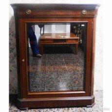 Vintage: VITRINA NOGAL MEDIDAS. 96 X 35 X 118. Lote 97027875