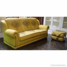 Vintage: SOFA 3 PLAZAS CON PUF. Lote 97101663