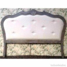 Vintage: CABECERO DECAPADO EN GRIS TAPIZADO 135 - 150. Lote 97105147