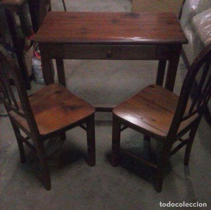 mesa cocina con cajón y dos sillas - Kaufen Vintage-Möbel in ...