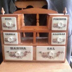 Vintage: MUEBLE ESPECIERO ANTIGUO. Lote 97588196