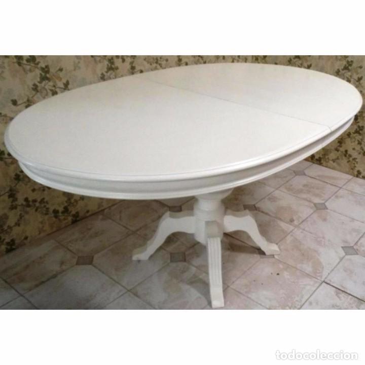 mesa comedor ovalada blanca extensible 158 x 10 - Kaufen Vintage ...