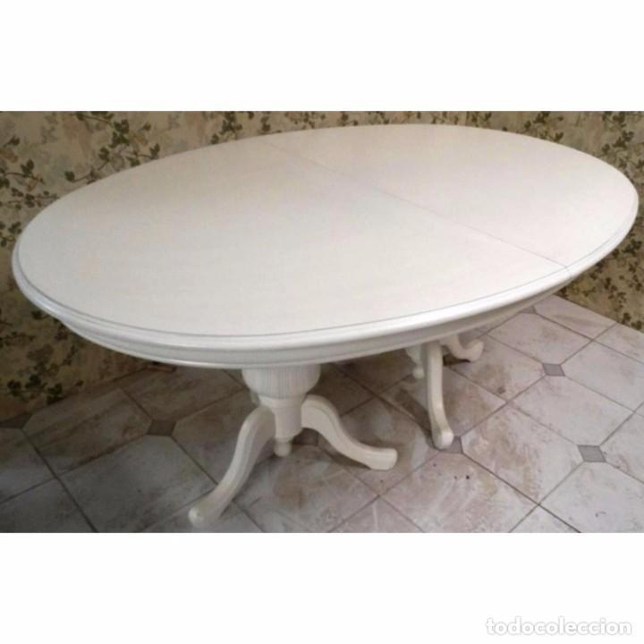mesa comedor eliptica blanca extensible 165 x 1 - Comprar Muebles ...