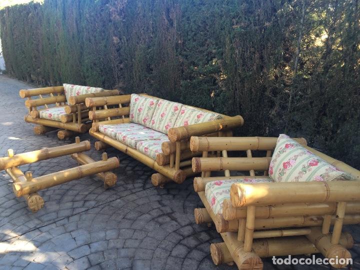 Comprar Muebles De Jardin.Conjunto De Jardin De Bambu Importado De Bali Espectacular